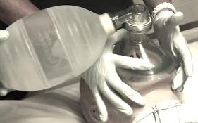 self inflating respiratory bag