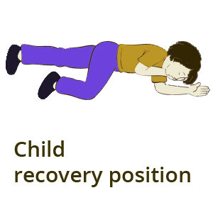 child - breathing aid - recovery position